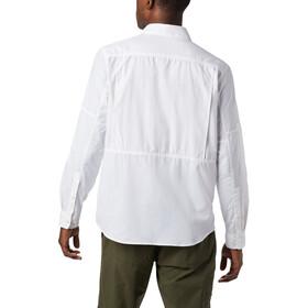Columbia Silver Ridge 2.0 Camisa Manga Larga Hombre, blanco